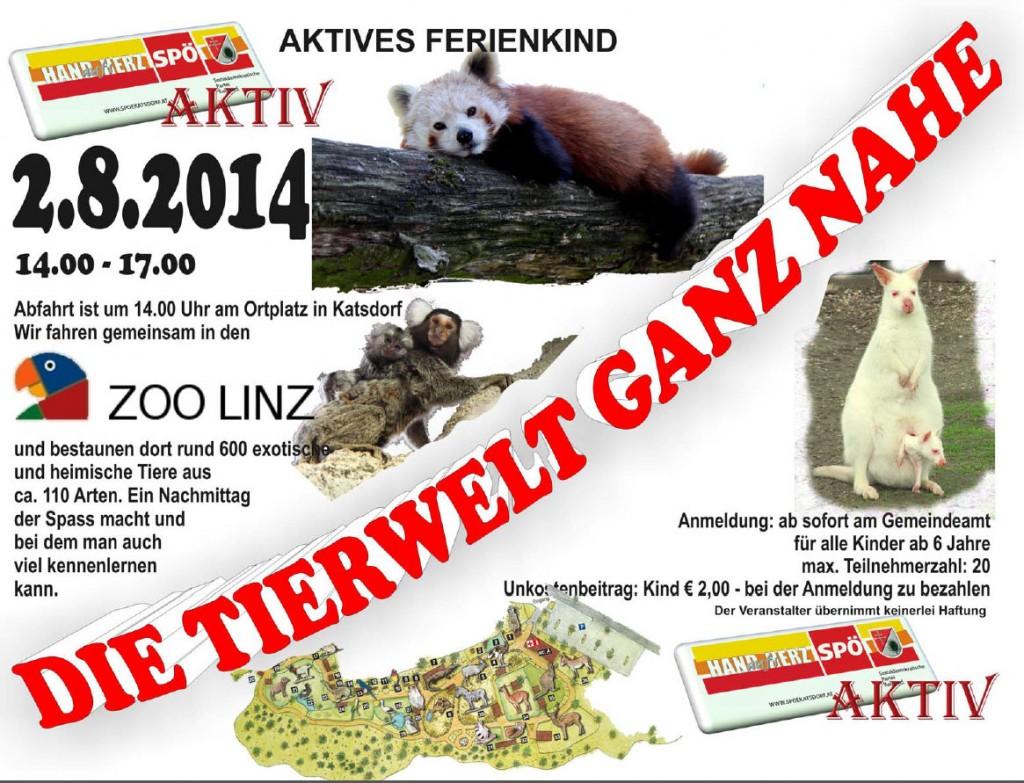 Besuch des Zoos Linz, 2. August 2014