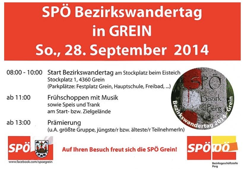 Einladung zum SPÖ Bezirkswandertag 2014