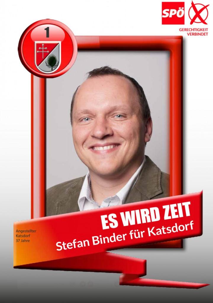 Es wird Zeit - Stefan Binder für Katsdorf